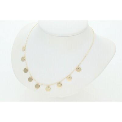14 Karat Gold Little Circles Rollo Necklace