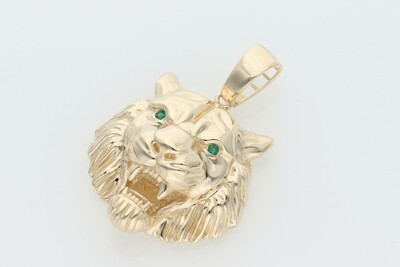 10 Karat Gold & Zirconium 3D Tiger Charm