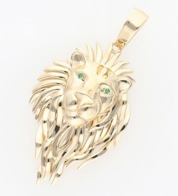 14 Karat Gold & Zirconium Big Lion Mane Charm