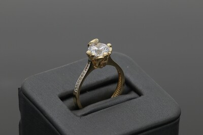 14 Karat Gold & Zirconium Promise Ring