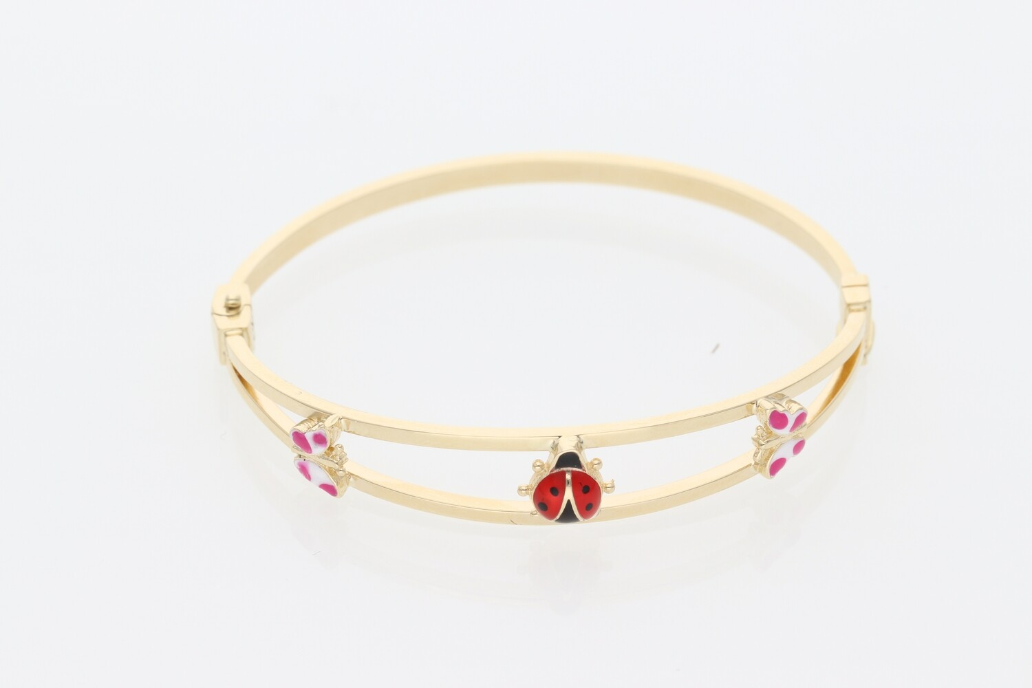 14 Karat Gold Colored Bugs Bangle