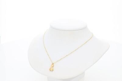 14 Karat Gold & Diamond Tiny Boy Rollo Necklace