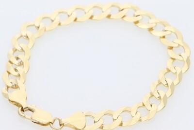 14 Karat Solid Gold Italian Curb Bracelet