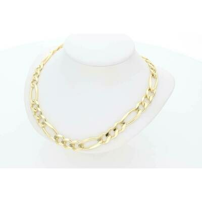 10 Karat Solid Gold Figaro Chain 8 Millimeters