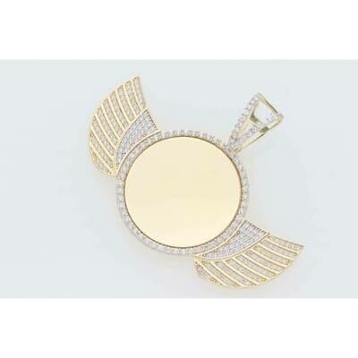 10 Karat Gold & Zirconium Wings Photo Charm