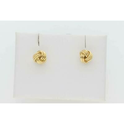 10 Karat Gold Tiny Knot Earrings