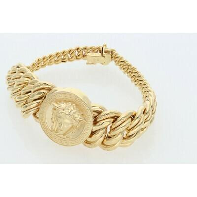 10 Karat Gold Medusa Princess Style Bracelet