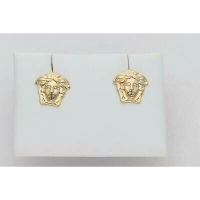 14 Karat Gold Tiny Medusa Earrings