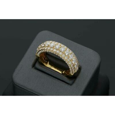 14 Karat Gold & Diamond Men's 1/2 Eternity Ban Ring