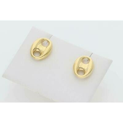 10 Karat Gold Big Puff Mariner Earrings