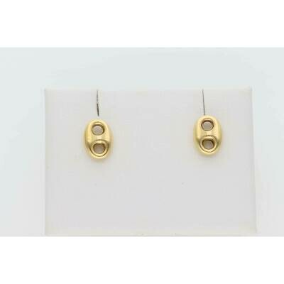10 Karat Gold Small Puff Mariner Earrings