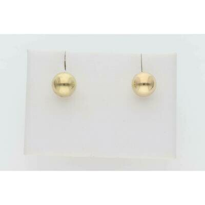 14 Karat Gold Sphere Earrings