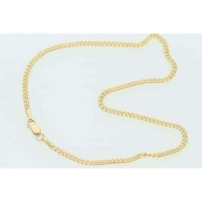 10 Karat Solid Gold Miami Cuban Link Anklet