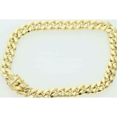 10 Karat Gold Miami Cuban Link Bracelet