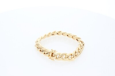 10 Karat Gold Miami Cuban Link Bracelet 14mm