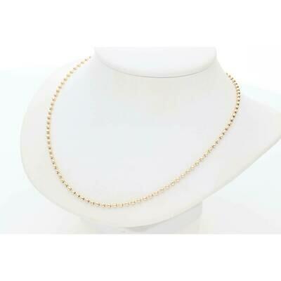 14 Karat Gold Moon Chain