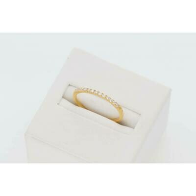 14 Karat Gold & Diamonds -Stone Machine Set Band Ring