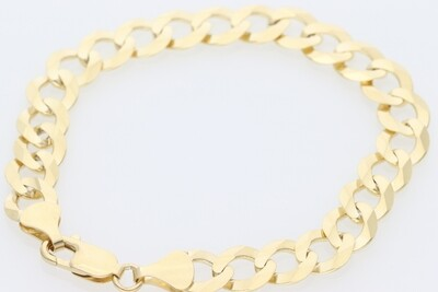 10 Karat Gold Italian Curb Bracelet 9MM