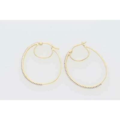 14 Karat Gold & 0.25 Ctw Diamond Stud Earrings ST0025Y ~