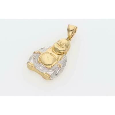 10 Karat Gold 2 Tone Buddha Pendant W: 5.1g $