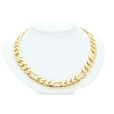 14 Karat Gold Figaro Monaco Chain