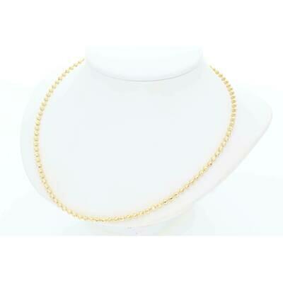 10 Karat Solid Gold Moon Chain 2.3mm x 24