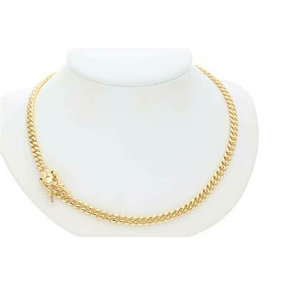 14 Karat Solid Gold Miami Cuban Link Chains Box Lock