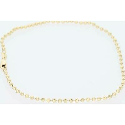 14 Karat Solid Gold Moon Chain 2.4mm x 10