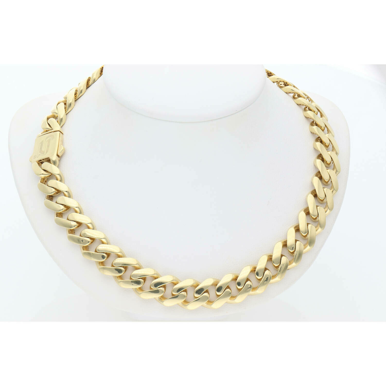 10 Karat Gold Cuban Link Monaco Chain 10.7 mm and 26 inches