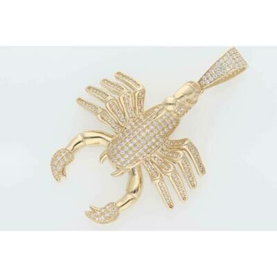 10 karat Gold & Cz Scorpion Charm W: 13.4gr~ ~