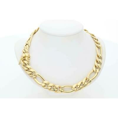 14 Karat Gold Figaro Chain 10.1mm x 24