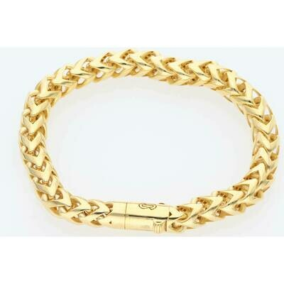 10 Karat Gold Franco Rondo Bracelet 7.6mm x 8