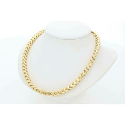 10 Karat Gold 8 Sided Franco Chain