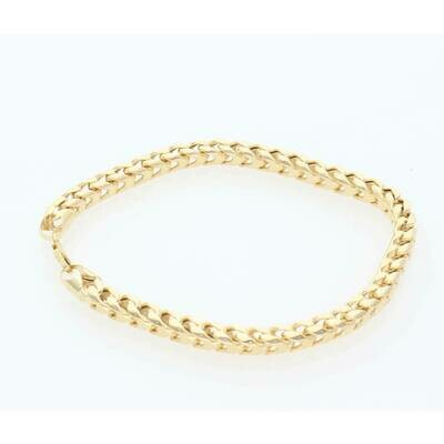 10 Karat Gold 8 Sides Franco Bracelet