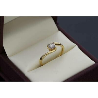 14 karat Gold 0.15 ctw Fleur Diamond Promise Ring Size 7 W: 2.3 ~