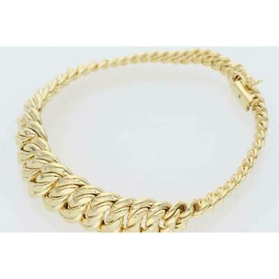 10 Karat Gold Princess Bracelet 6.8-14.6mm x 7.5