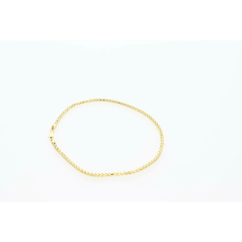 10 Karat Gold Palmer Anklet Bracelet 2.3 mm x 10 in W:3.1W:
