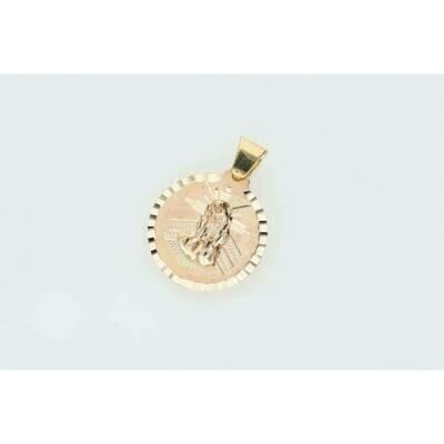 10 karat Gold St Lazarus Medal Diamond Cut W: 2.4