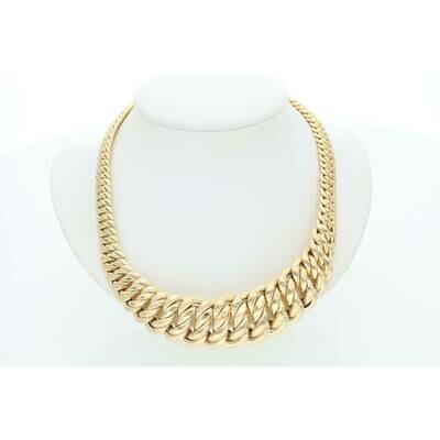 14 karat Gold Princess Necklace 18.9-7.8 mm x 17 in W:31.5