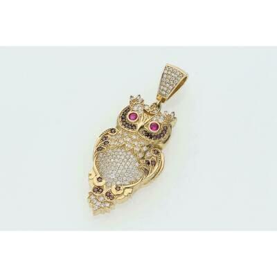 10 karat gold and Zc owl charm W: 9.4 $