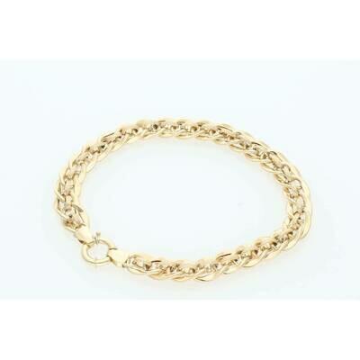 10 Karat Gold Fancy Italian Anklet Bracelet 10mm x 10
