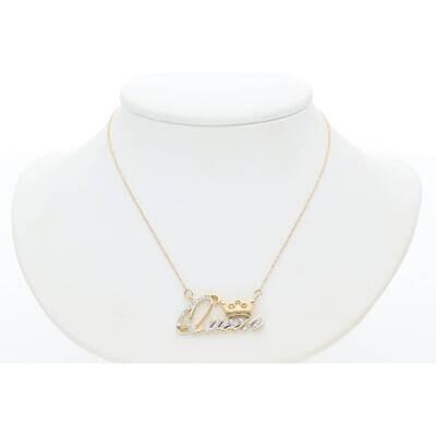 10 Karat Gold CW 0.12CTW M5 Diamond Necklace