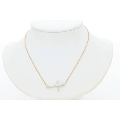 10 Karat Gold ND 0.18CTW M2 Diamond Necklace