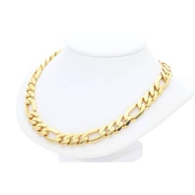 10 Karat Solid Gold Figaro Chain