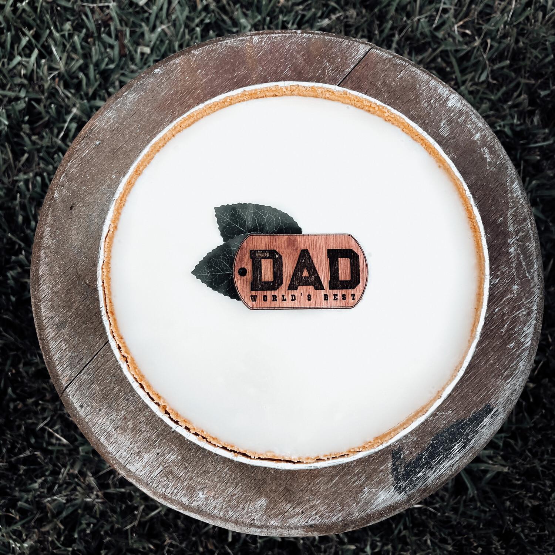 """Father's Day Keychain 9"""" Pie"""