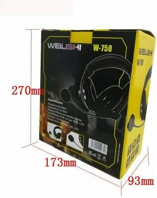 Audífono con Micrófono Multimedia para PC Weilishi W-750