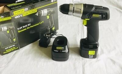 Power It 9.6V Cordless Drill Kit
