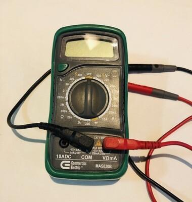 Manual Ranging Digital Multimetre