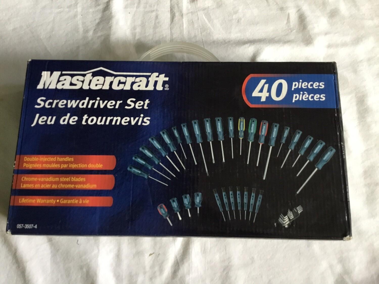 Mastercraft 40 Pcs Screw Driver Set