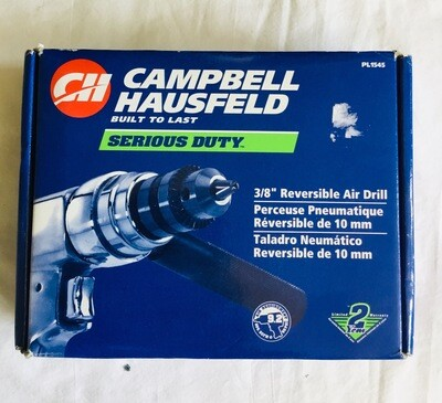 "Campbell Hausfeld 3/8"" Reversible Air Drill"
